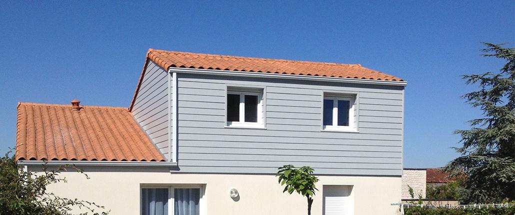 Surélévation de maison à Angoulins
